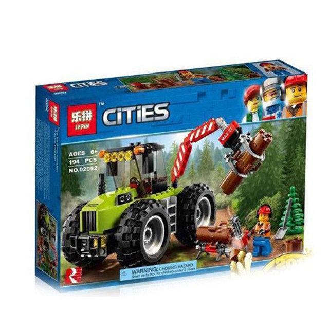 """Конструктор 10870  """"Лесной трактор"""" 194 деталей (Аналог LEGO City 60181) Новое 2018 г"""