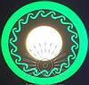 "LED светильник 6+3W ""Завитки"" с зеленой подсветкой / LM 539 круг"