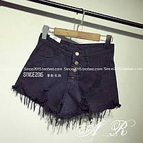 Модные шорты, ткань котон джинс. Размеры s m l, фото 3
