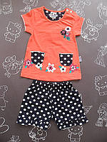 Детский летний костюм Цветочная поляна для девочки на 6-18 месяцев