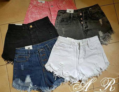 Модные шорты, ткань котон джинс. Размеры s m l, фото 2
