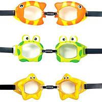 Очки детские для плавания 55603 поливинил, 3 цвета, 3-8 лет