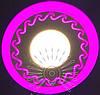 """LED светильник 6+3W """"Завитки"""" с розовой подсветкой / LM 539 круг"""