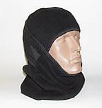 Балаклава (підшоломник, маска, шарф). Дуже тепла (до-40С)! Фліс на хутрі!, фото 2