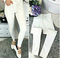 0785 белый Selfy (26-32, 10 ед.) джинсы женские летние стрейчевые, фото 1
