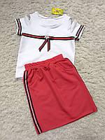 Костюм на девочку,футболка и юбка,нарядный опт, фото 1