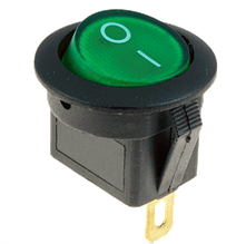 Перемикач клавіатури КП-15 2 контакту, 2 положення з фіксацією без підсвічування 220В. Зелений