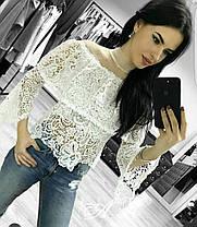Очень нежная и красивая кружевная блуза, размеры 42-44, фото 3