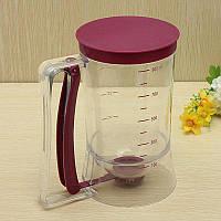 Диспенсер, ручной стакан-дозатор для жидкого теста блинов и наполнителей