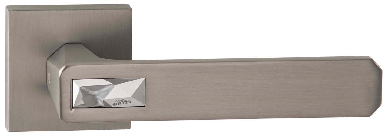 Дверна ручка ORO&ORO GALASSIA 108СR-15E Swarovski MSN / Light Chrome перламутровий нікель
