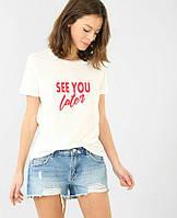 Женская футболка See you later уличная мода, хайповая одежда