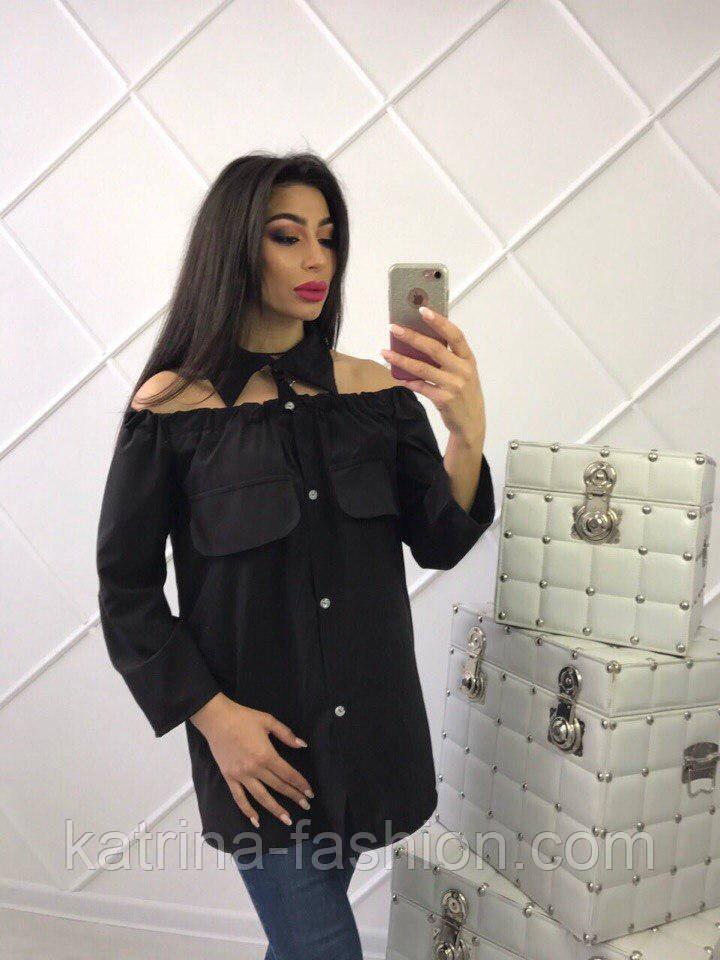 Женская стильная удлиненная блуза (4 цвета)