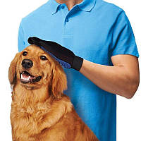 Перчатка для вычесывания шерсти True Touch домашних животных, перчатка для чистки животных, фурминатор,