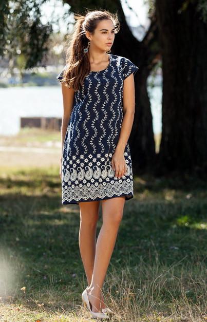 Легкое молодежное платье из натуральной ткани, М,Л,ХЛ,ХХЛ