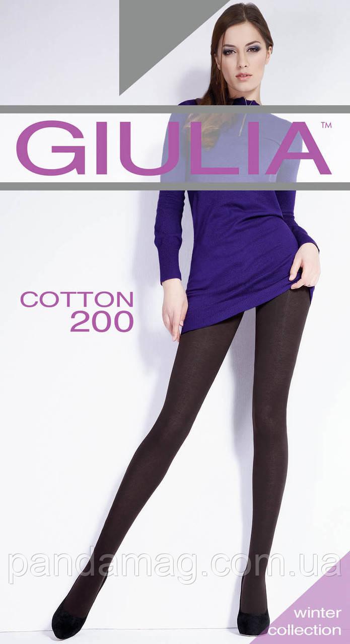 Колготки женские Giulia Cotton 200Den хлопок 2XL