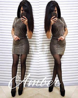 """Платье """"люрекс"""" стильное и красивое, размер S M, фото 2"""