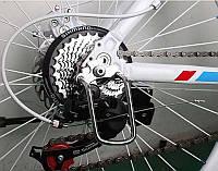 Велосипедная защита заднего переключателя скоростей скоба захист задней перекидки перемикача