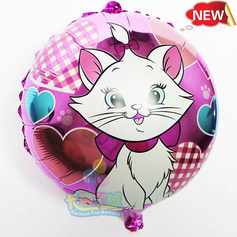 """Фольгированный круглый шар """"Мэри Кот """" 45 см."""