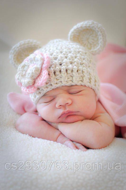 наряд для фотосессии новорожденныхшапка для новорожденныхдетская