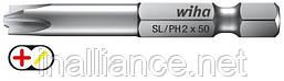 Бит 50 мм SL/PH2 Professional Xeno-шлиц/ Phillips Wiha 32492