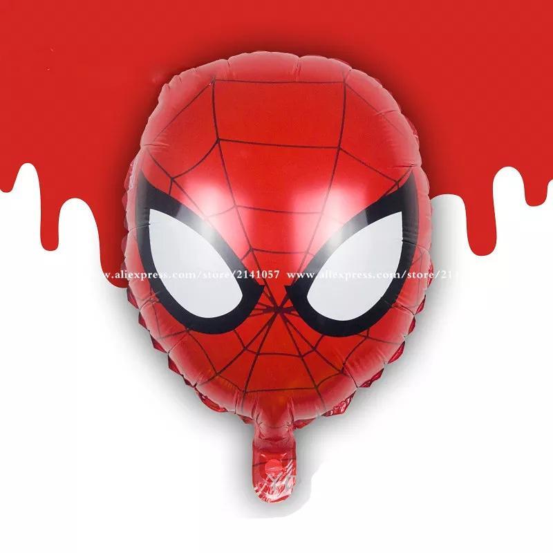 Воздушные шары человек паук голова 40 см