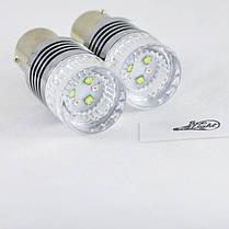 Светодиодная авто лампа SLP LED с цоколем 1157(P21/5W)(BAY15D) 6 Cree led Белый/Красный, фото 3
