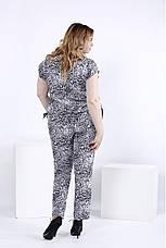 f4b78766cbe Брючный костюм из штапеля для полных женщин 0831  615 грн. Купить в ...