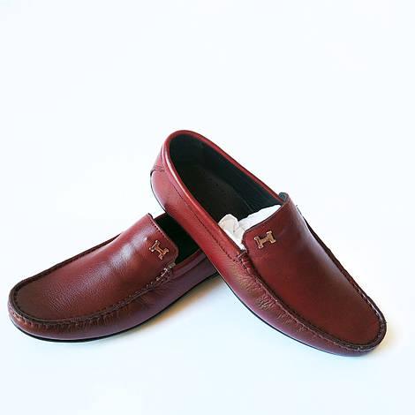 Rifellini обувь Турция : мужские, кожаные мокасины, бордового цвета