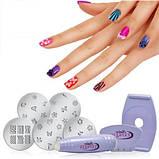 Набор для росписи ногтей stamping salon express, фото 6