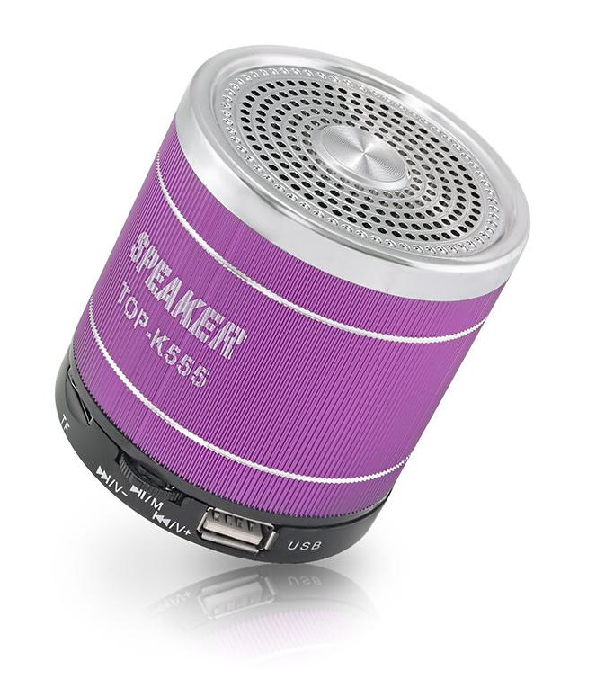 Колонка TOP-K555  FM, MP3, MicroSD, USB, miniUSB, AUX, встроенный АКБ