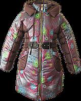Зимнее пальто для девочки. 116, 122, 128