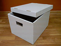 Коробки для документов. Архивные коробки. Архивные боксы 395х323х270 мм. светлые, фото 1