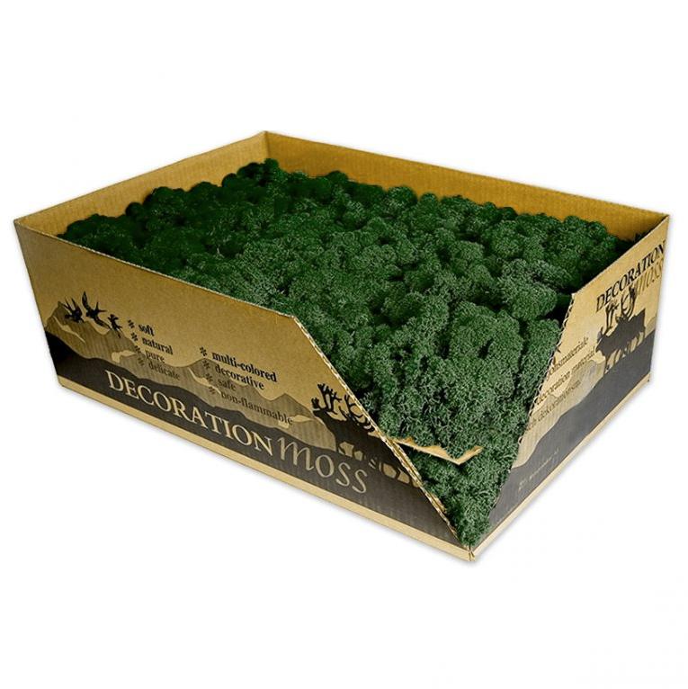 Стабилизированный мох опт цвета в ассортименте трава norske moseprodukter