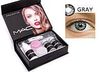 Цветные косметические контактные линзы для глаз MAC(Brilliant Blue)  голубые