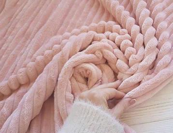 Плед плюшевый микрофибра Розовый