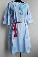 Платье вышиванка лен, фото 1