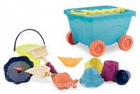 Набор для игры с песком и водой Тележка Море 11 предметов Battat