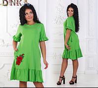 Летнее платье с оборками в расцветках 308 (д1272)