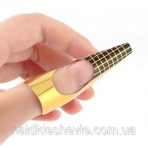 """Форми для нарощування нігтів """"Золото"""" - рулон 500 шт. (5,8 * 5,8 див.), фото 2"""