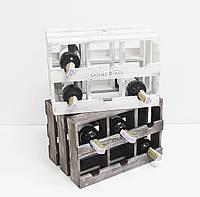 Подставка для вина ящик на 6 бутылок горизонтальный