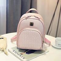 Женский стильный розовый рюкзак, фото 1