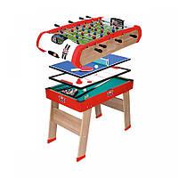 Деревянный полупрофессиональный стол Smoby Power Play 4 в 1