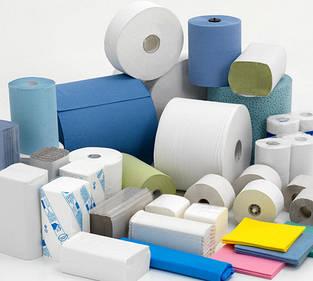 Туалетний папір, паперові рушники, рідке мило та витратні матеріали