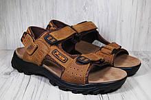 Спортивные мужские сандалии Razor натуральный нубук коричневые
