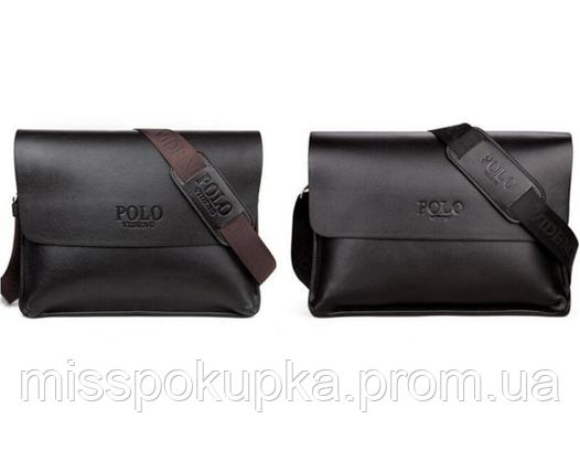 e06f465ed6ee Мужская кожаная сумка портфель Polo Videng A4 для документов ...