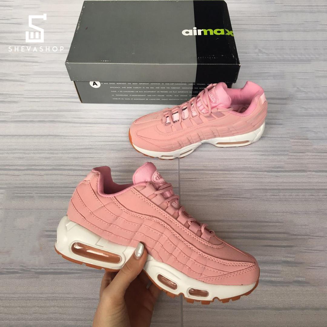 Женские кроссовки N*ke air max 95 розовые (копия)