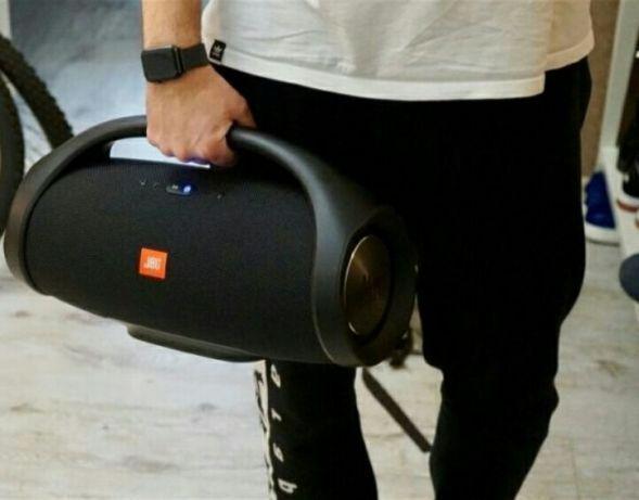 Колонка портативная JBL BOOMBOX с пластиковой ручкой и USB+SD+ Bluetooth + FM радио