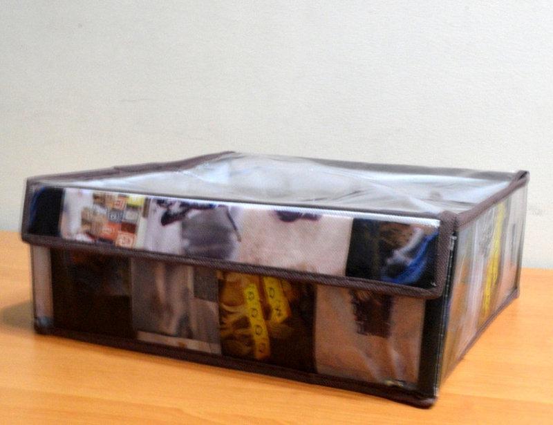 Органайзер для белья с прозрачной крышкой 16 секций, Фото