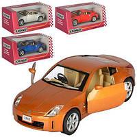 Машинка KT 5061 W, металл, инер-я, 1:34, 12см, откр.дв, рез.колеса, 4цвета, в кор-ке, 16-7-8см