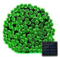 Светодиодная гирлянда на солнечной энергии 22м 200 LED зеленый